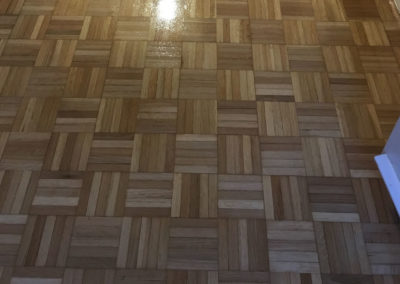 After - oak finger parquet with matt varnish
