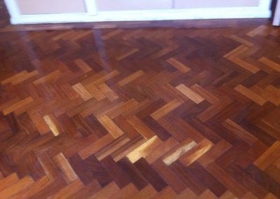 After - oak parquet restoration