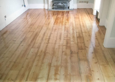 After - original Victorian pine floorboards with hardwax oil