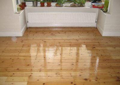 After - pine floorboards
