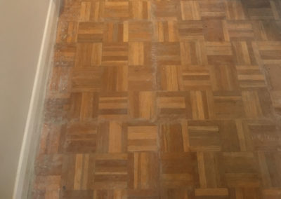 Before - oak finger parquet