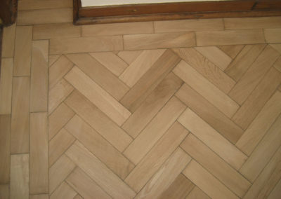 Contemporary parquet flooring