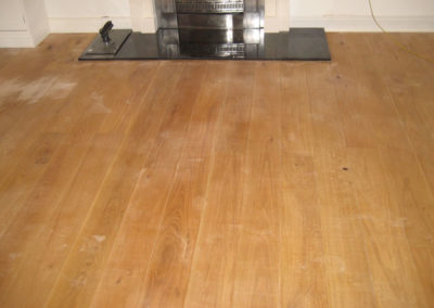 Engineered oak sanded back