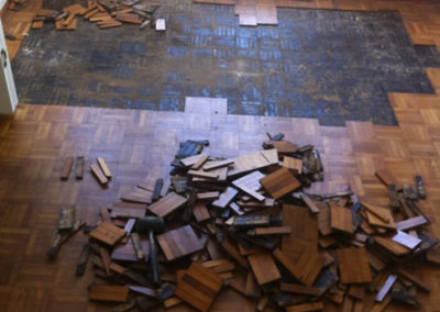 Removed old oak parquet fingers